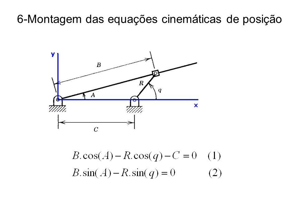 6-Montagem das equações cinemáticas de posição