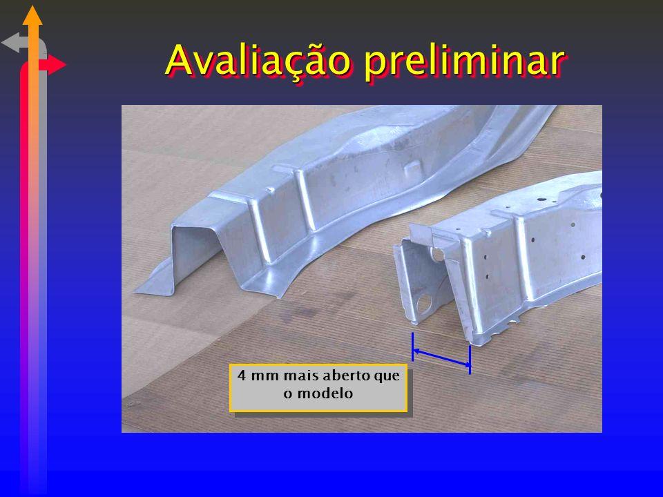 4 mm mais aberto que o modelo Avaliação preliminar