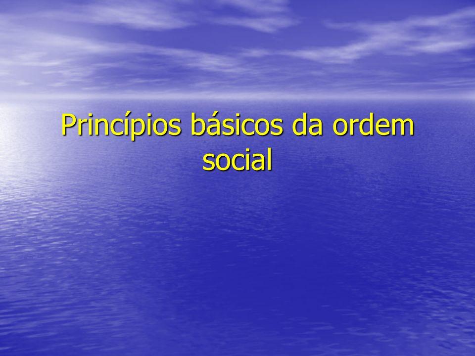 Princípio da solidariedade Cada pessoa ou instituição de uma sociedade contribui ao bem comum, tanto positiva como negativamente.