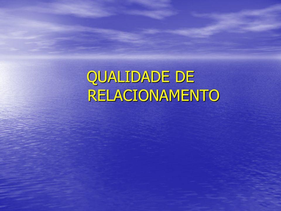QUALIDADE DE RELACIONAMENTO