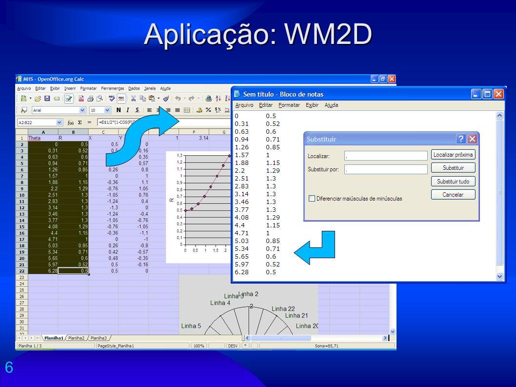 6 Aplicação: WM2D