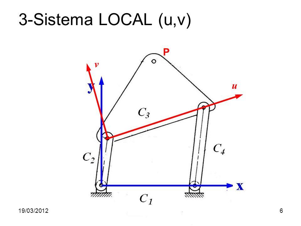 19/03/2012Prof. Jorge Luiz Erthal6 3-Sistema LOCAL (u,v) P u v