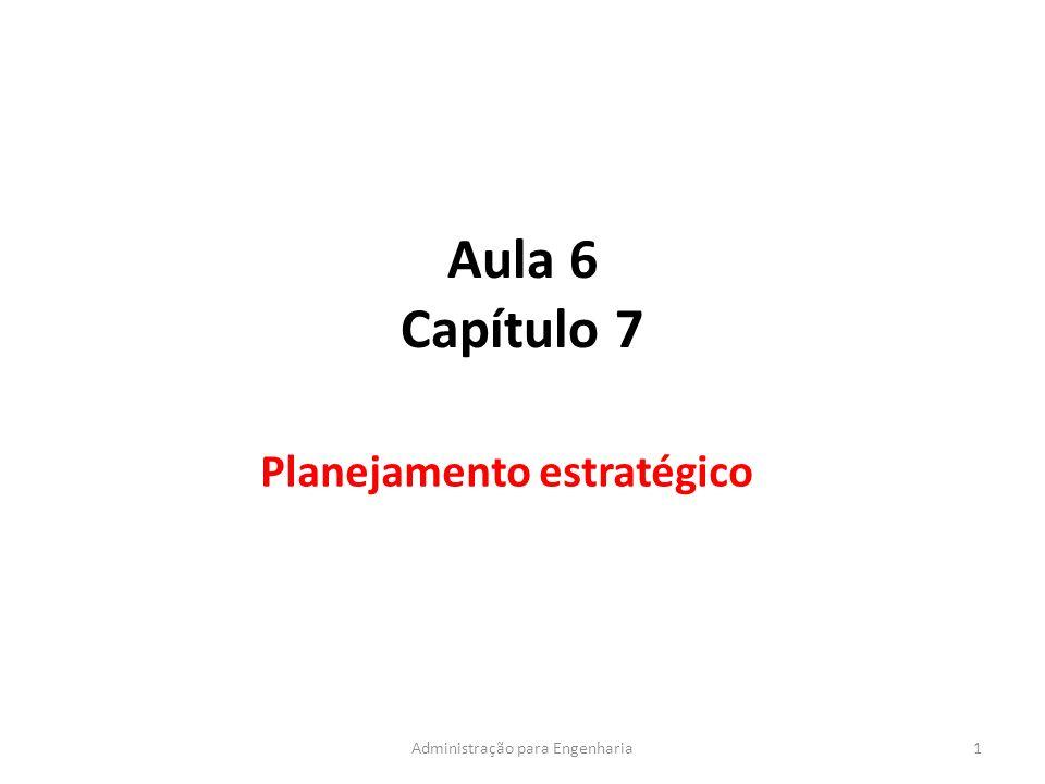 Aula 6 Capítulo 7 Planejamento estratégico 1Administração para Engenharia