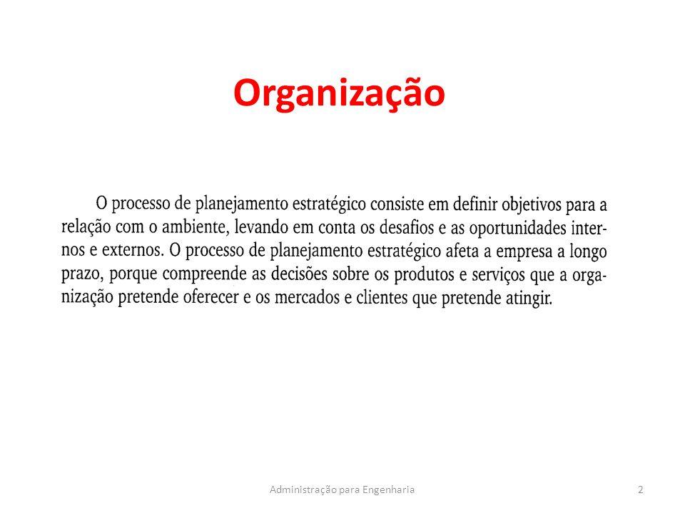 Organização 2Administração para Engenharia