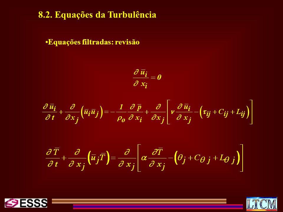 Equações filtradas: revisão 8.2. Equações da Turbulência