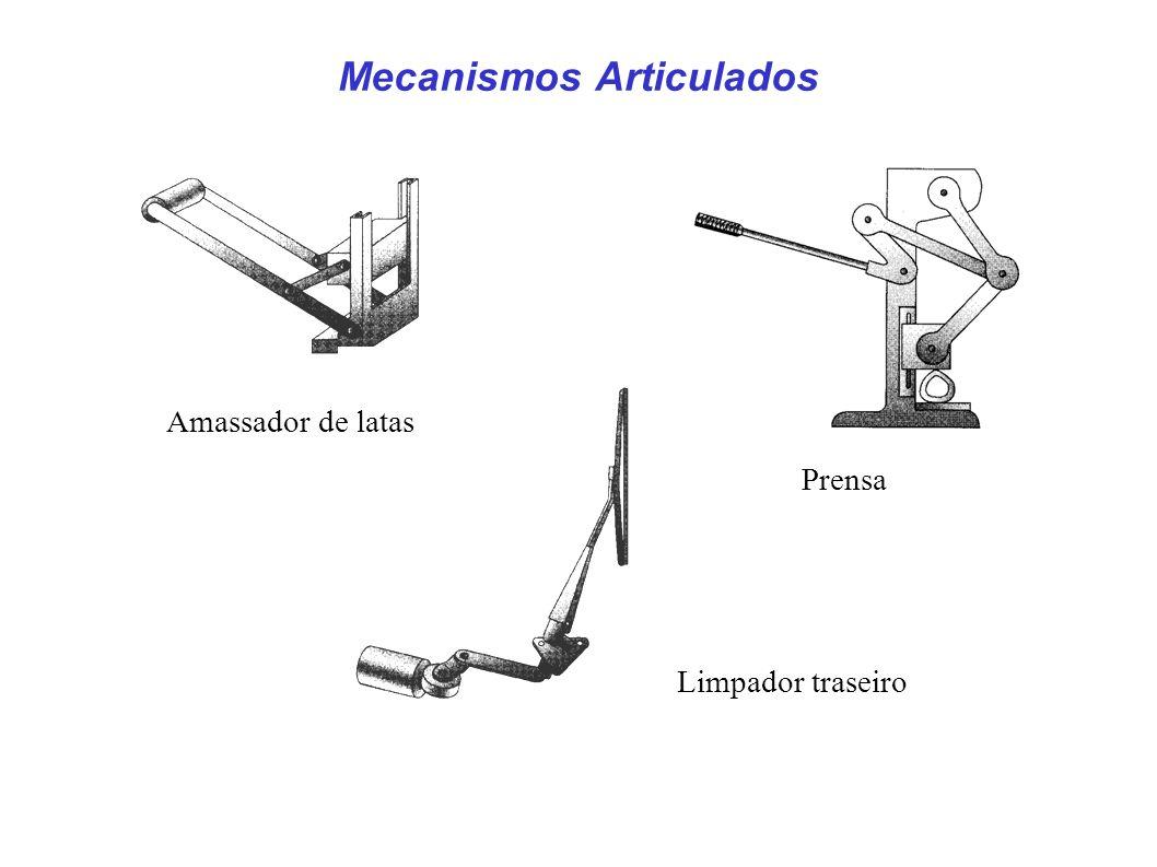 Exemplos de Mecanismos Move embalagens de uma bancada de montagem para uma esteira Plataforma de elevação Suporte de microondas para atender pessoas em cadeira de rodas