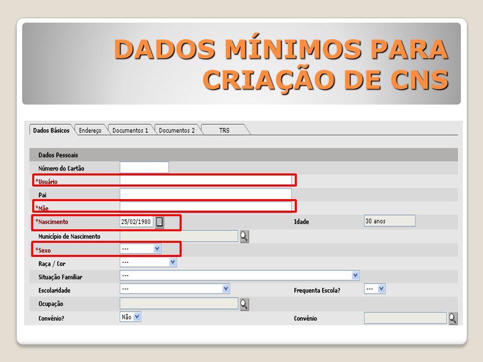 REGISTRO REDUZIDO ATENDIMENTO O registro reduzido possibilita gerar os arquivos de produção da unidade.