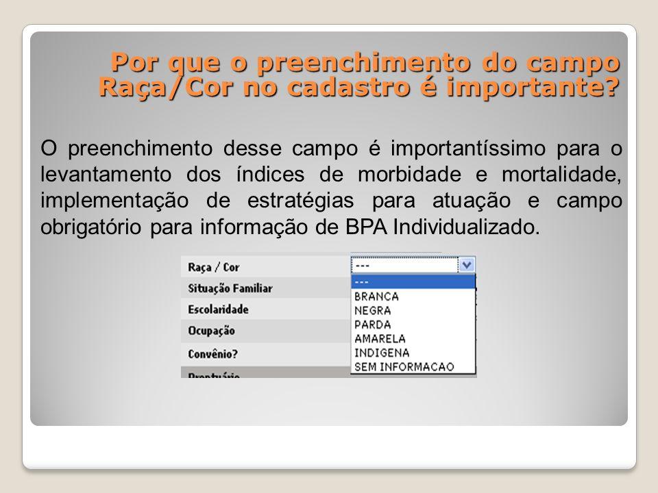 Qual a importância de se informar a Ocupação (profissão) do paciente no cadastro.