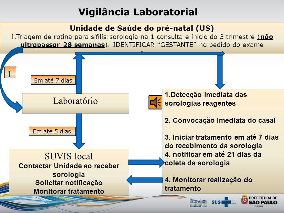 Ações de controle sífilis congênita Vigilância epidemiológica da transmissão vertical SMS/G 1203/06 – Comissão Municipal de normatização e avaliação d