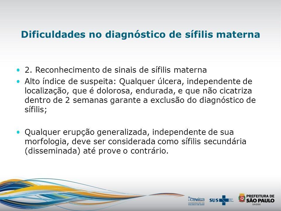 Dificuldades no pré-natal 1.-Sorologias em tempo hábil para diagnóstico e tratamento adequado no acesso ao pré-natal e solicitação da 2 sorologia não