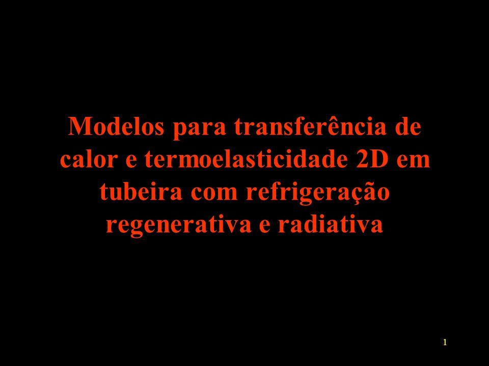 1 Modelos para transferência de calor e termoelasticidade 2D em tubeira com refrigeração regenerativa e radiativa
