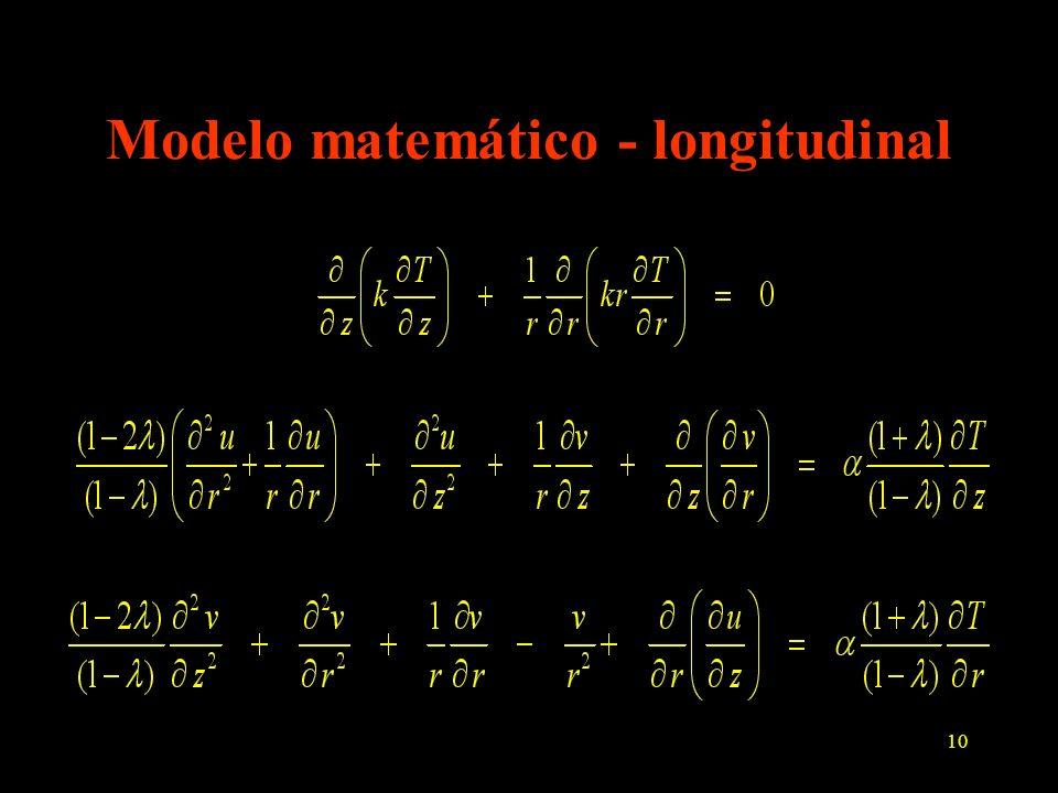 10 Modelo matemático - longitudinal