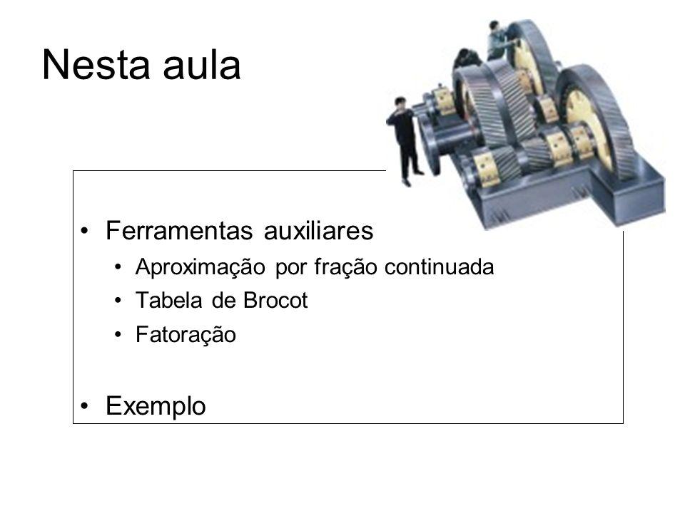 Transmissão em 2 estágios Para uma transmissão em 2 estágios, serão verificadas as duas possibilidades marcadas.