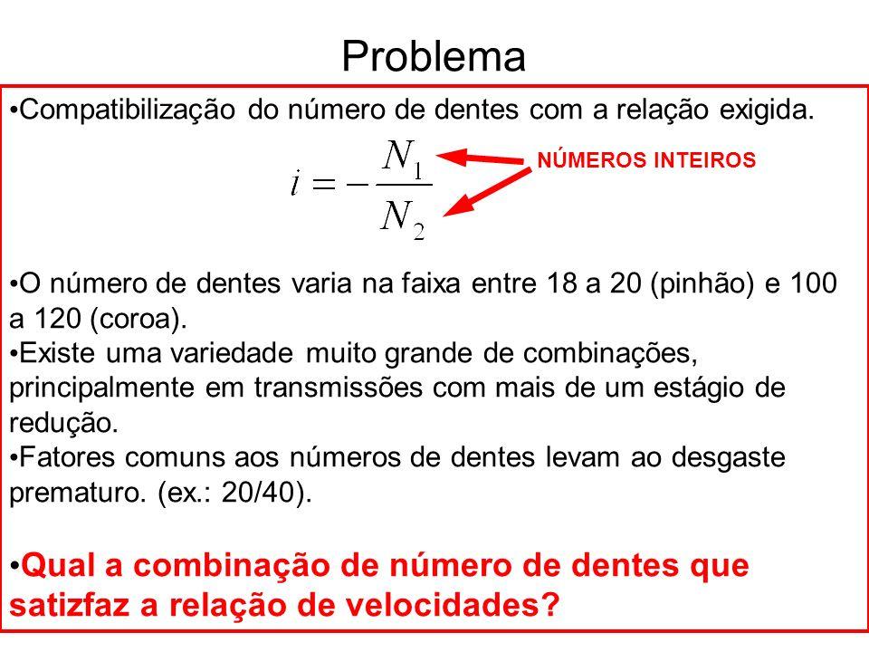 12 34 56 Transmissão em 3 estágios - estudo 1 Para uma transmissão em 3 estágios, seleciona-se uma linha da Tabela de Brocot para um dos estágios e, em seguida, resolve-se para os dois estágios restantes.