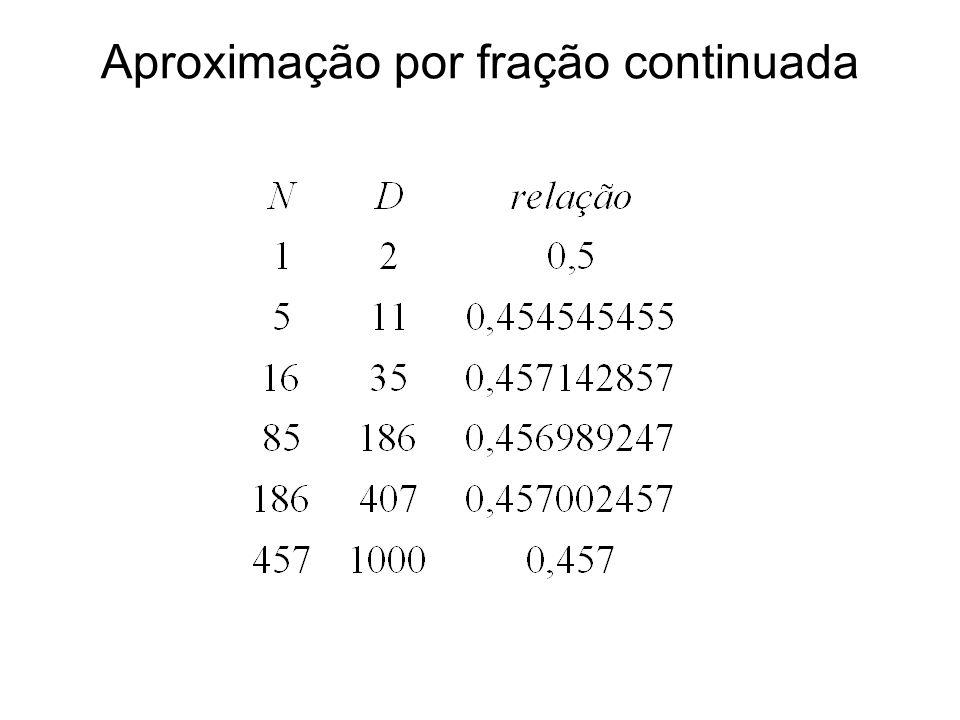 Transmissão em 3 estágios Será verificada a possibilidade marcada, juntamente com a relação 21/46 já definida.