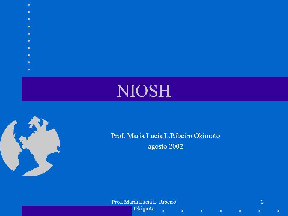 Prof.Maria Lucia L. Ribeiro Okimoto 12 NIOSH -IL 1.