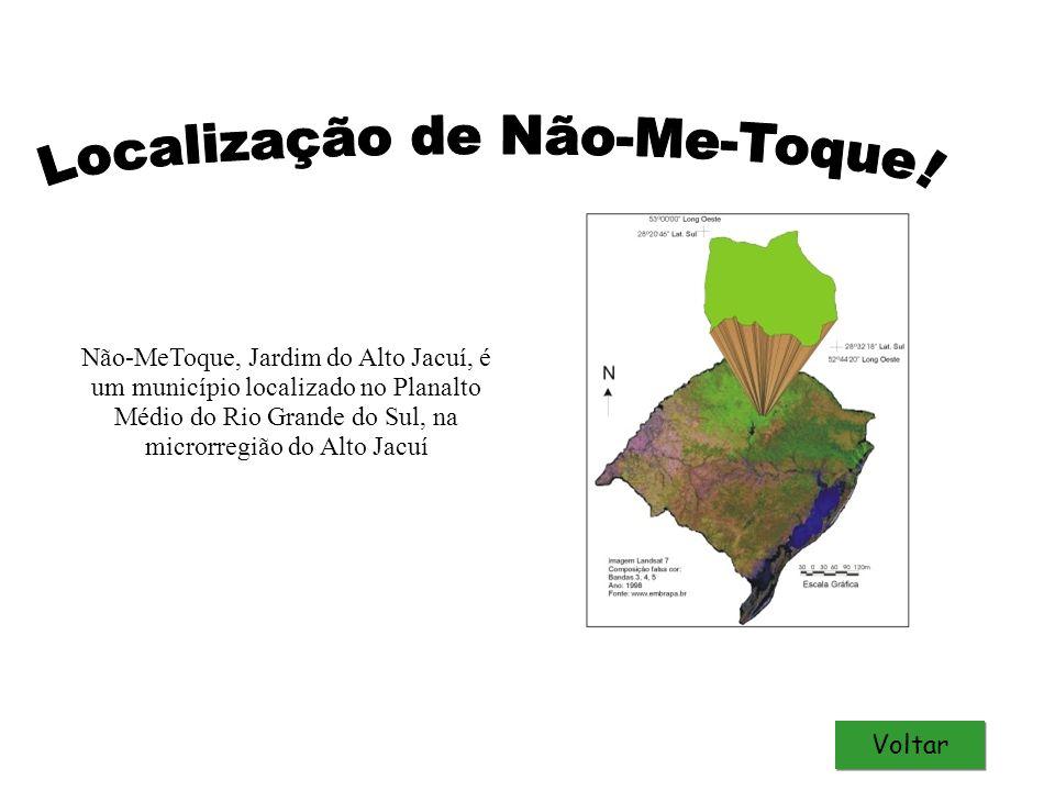 Não-MeToque, Jardim do Alto Jacuí, é um município localizado no Planalto Médio do Rio Grande do Sul, na microrregião do Alto Jacuí Voltar