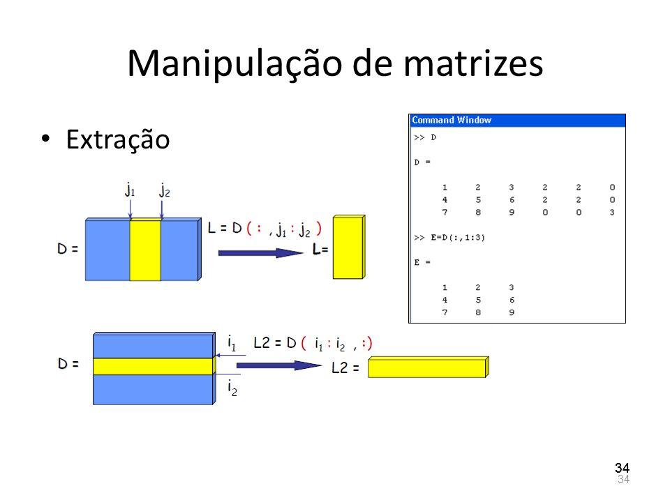 Manipulação de matrizes Extração 34