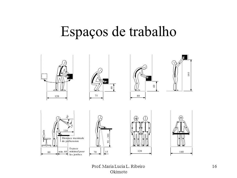 Prof. Maria Lucia L. Ribeiro Okimoto 16 Espaços de trabalho