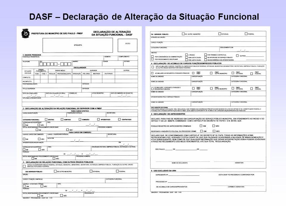 DASF – Declaração de Alteração da Situação Funcional