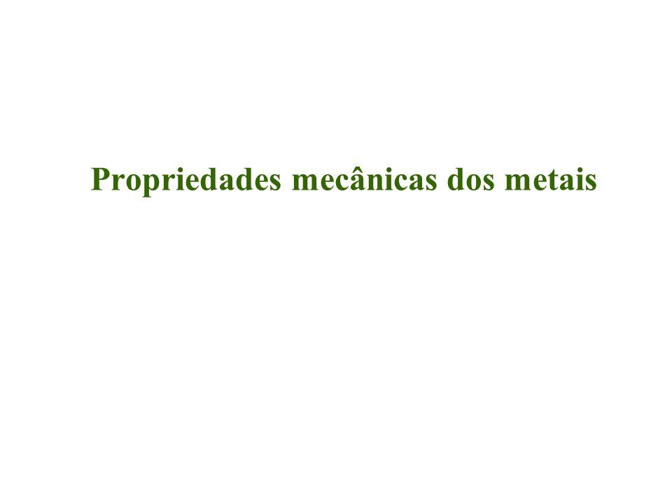 Como determinar as propriedades mecânicas.Através de ensaios mecânicos.