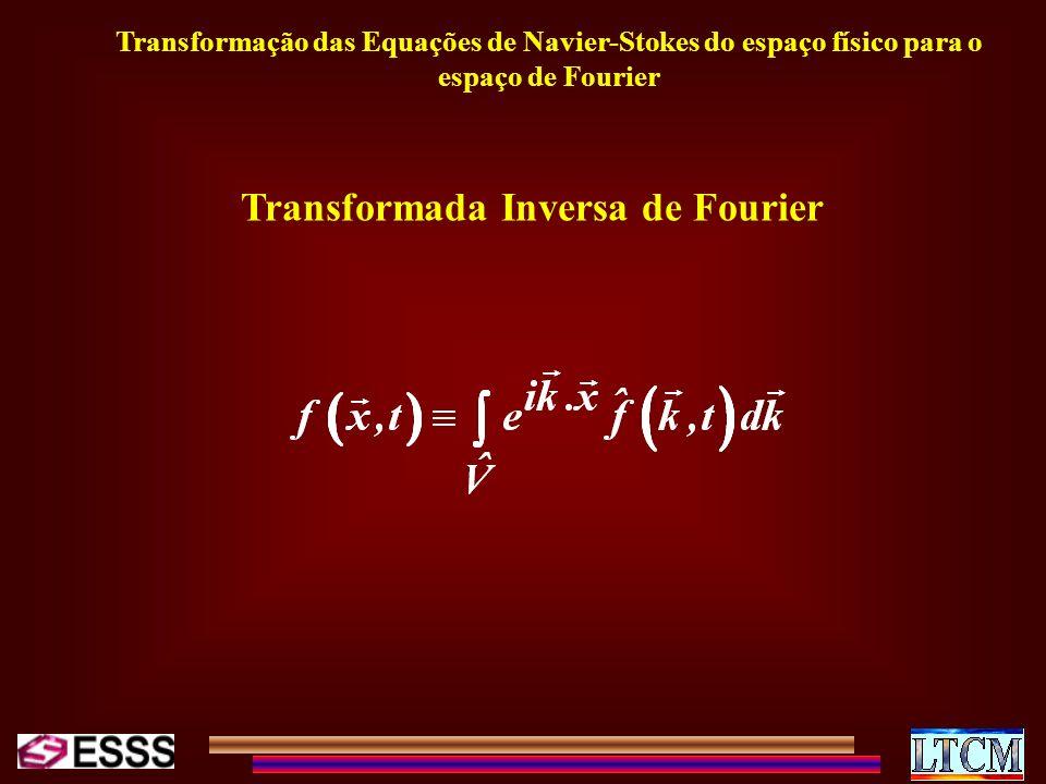 Transformação das Equações de Navier-Stokes do espaço físico para o espaço de Fourier Transformada Inversa de Fourier