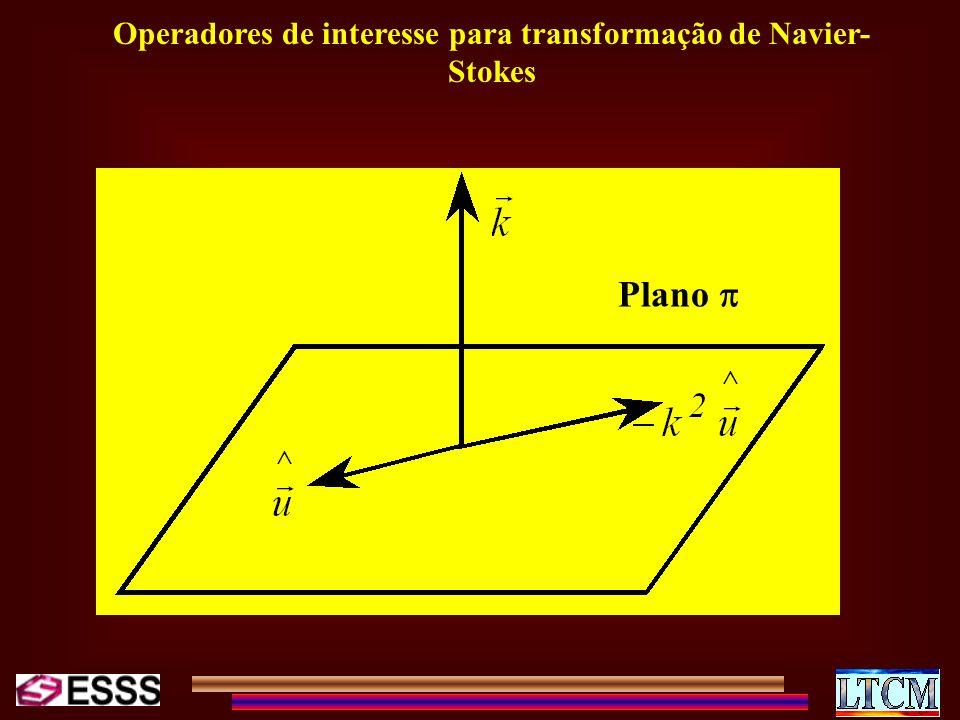 Operadores de interesse para transformação de Navier- Stokes Plano
