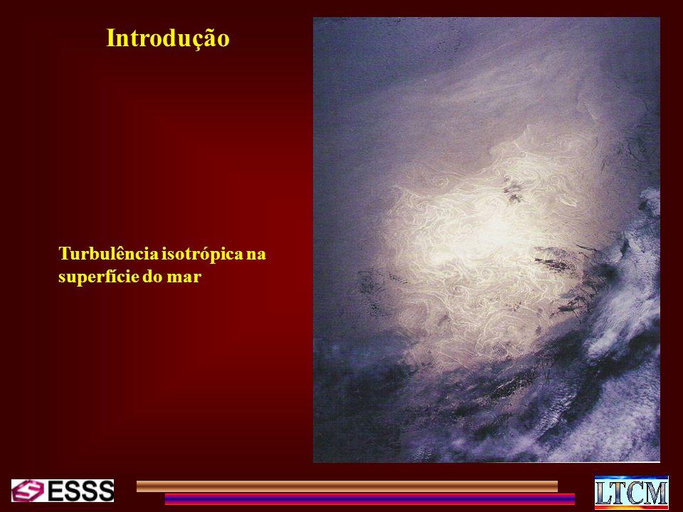 Introdução Turbulência isotrópica na superfície do mar