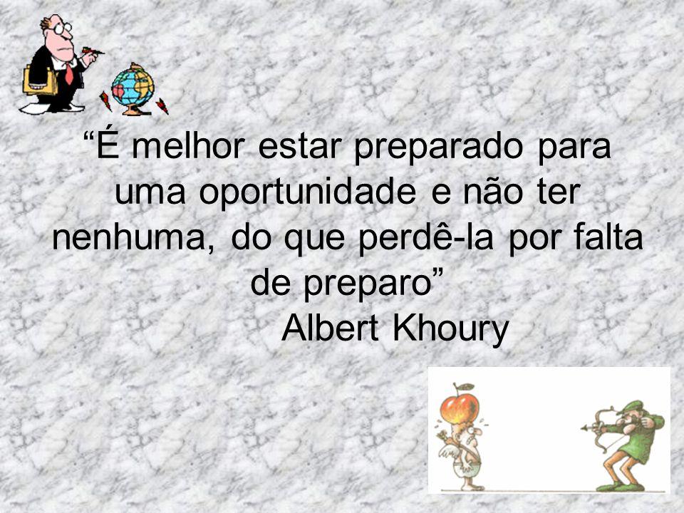 É melhor estar preparado para uma oportunidade e não ter nenhuma, do que perdê-la por falta de preparo Albert Khoury
