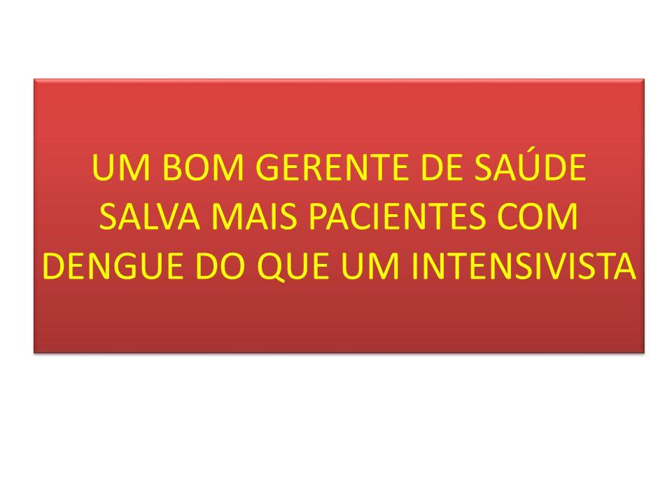 UM BOM GERENTE DE SAÚDE SALVA MAIS PACIENTES COM DENGUE DO QUE UM INTENSIVISTA