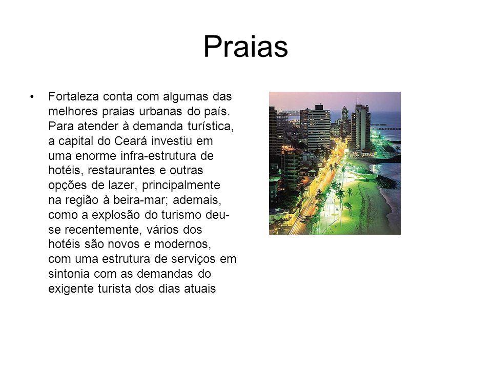 Praias Fortaleza conta com algumas das melhores praias urbanas do país. Para atender à demanda turística, a capital do Ceará investiu em uma enorme in