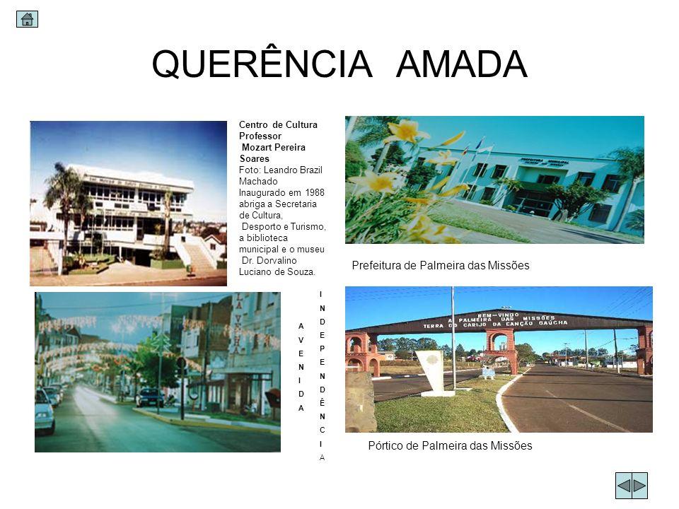 QUERÊNCIA AMADA Centro de Cultura Professor Mozart Pereira Soares Foto: Leandro Brazil Machado Inaugurado em 1988 abriga a Secretaria de Cultura, Desp
