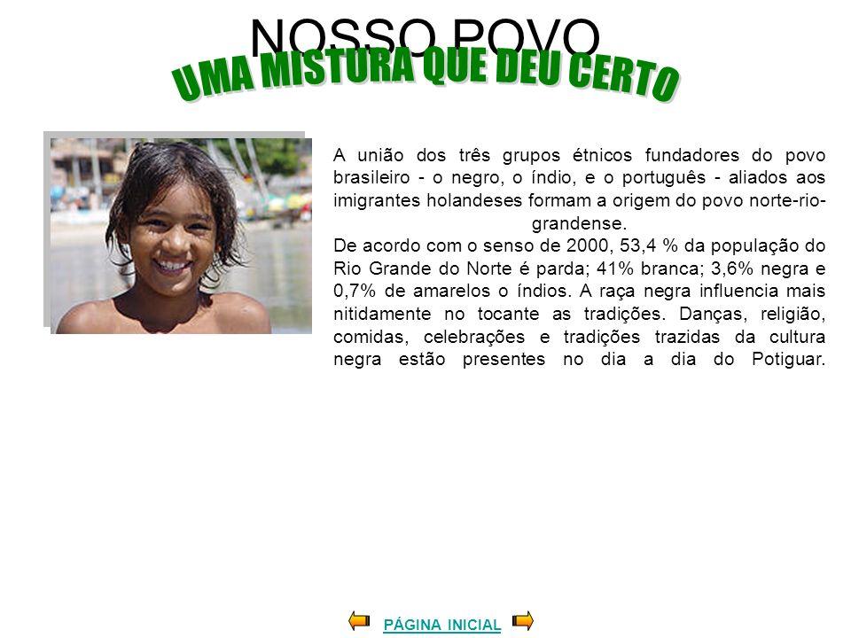 NOSSO POVO PÁGINA INICIAL A união dos três grupos étnicos fundadores do povo brasileiro - o negro, o índio, e o português - aliados aos imigrantes hol