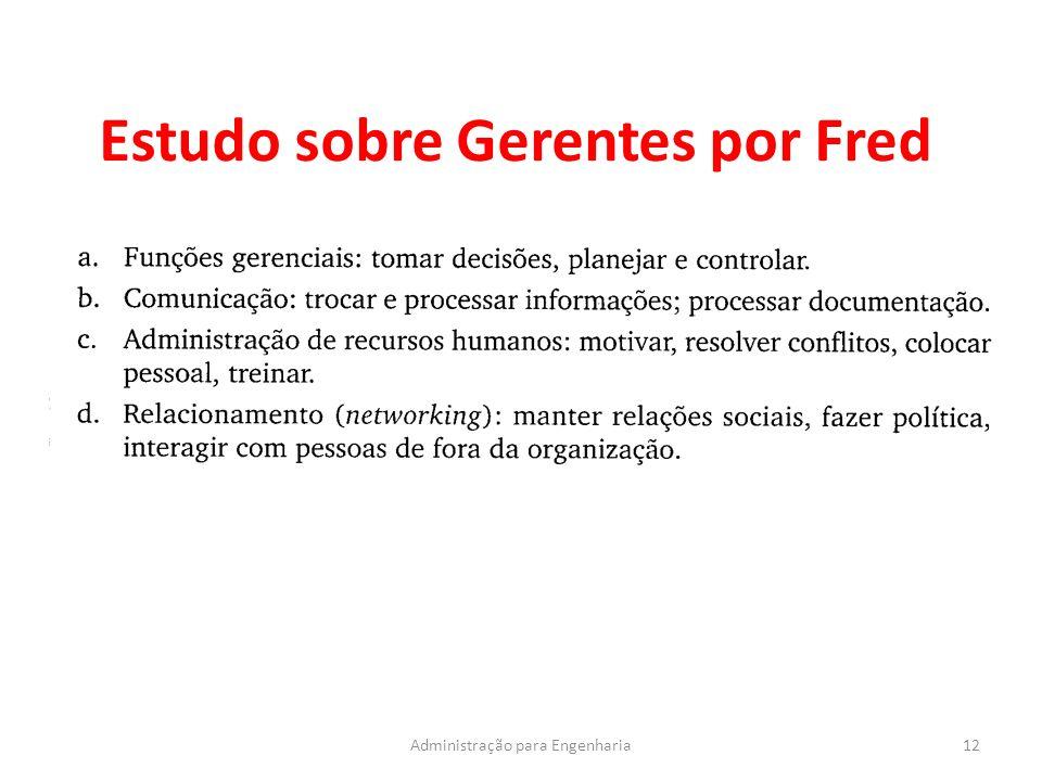 Estudo sobre Gerentes por Fred 12Administração para Engenharia