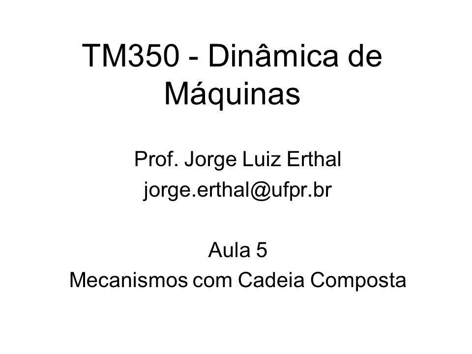 TM350 - Dinâmica de Máquinas Prof. Jorge Luiz Erthal jorge.erthal@ufpr.br Aula 5 Mecanismos com Cadeia Composta