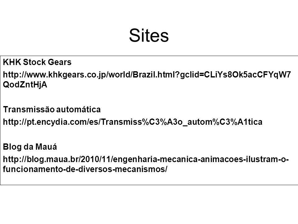 Sites KHK Stock Gears http://www.khkgears.co.jp/world/Brazil.html?gclid=CLiYs8Ok5acCFYqW7 QodZntHjA Transmissão automática http://pt.encydia.com/es/Tr