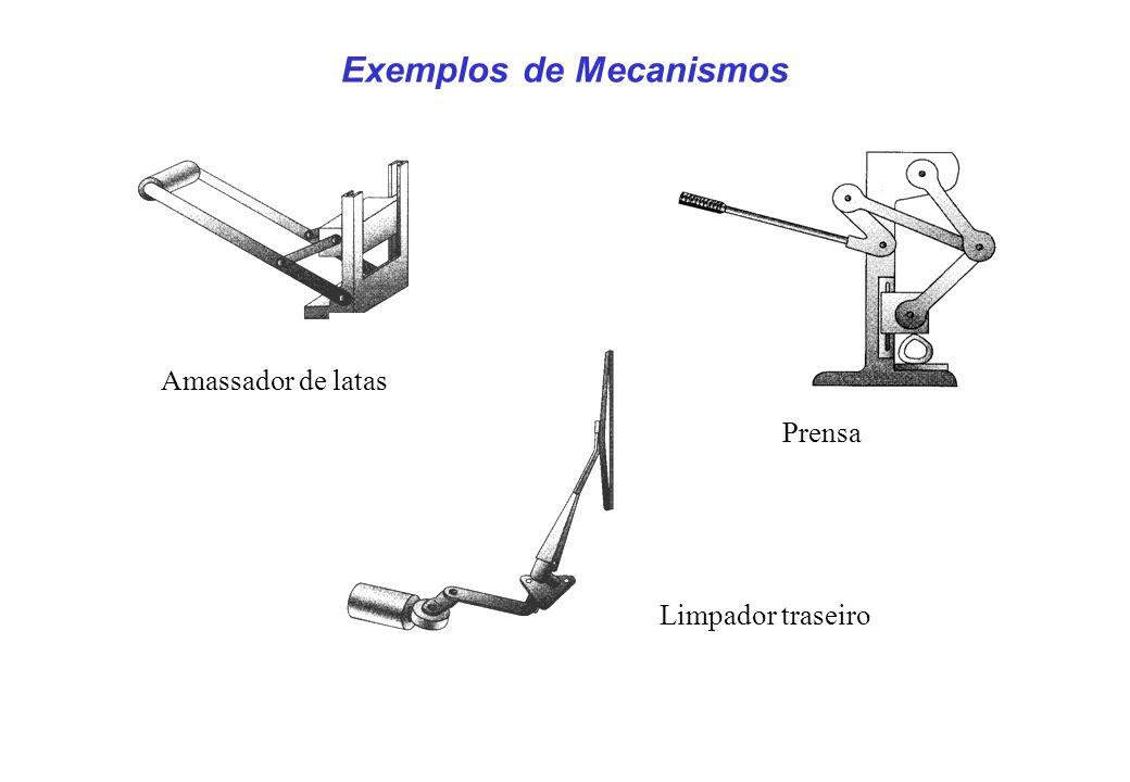 Exemplos de Mecanismos Amassador de latas Prensa Limpador traseiro
