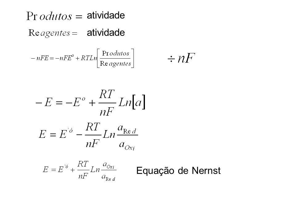 atividade Equação de Nernst