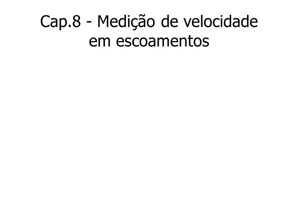 Cap.8 - Medição de velocidade em escoamentos