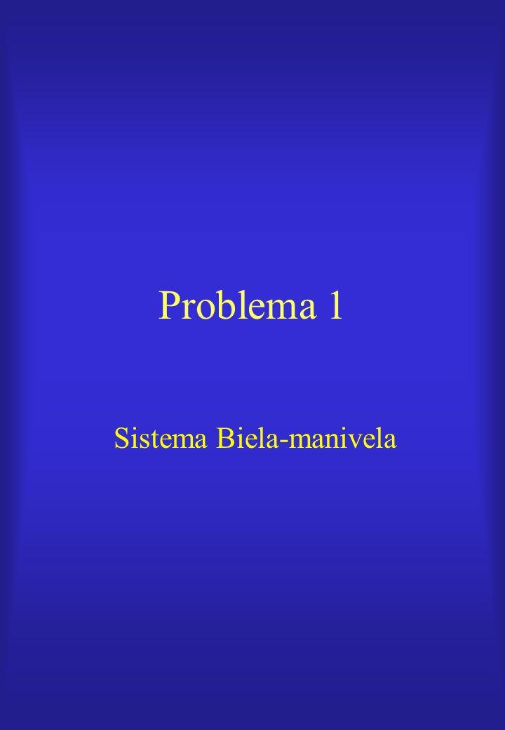 Problema 1 Sistema Biela-manivela