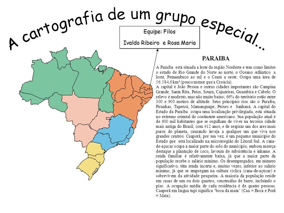PARAIBA A Paraíba está situada a leste da região Nordeste e tem como limites o estado de Rio Grande do Norte ao norte, o Oceano Atlântico a leste, Pernambuco ao sul e o Ceará a oeste.