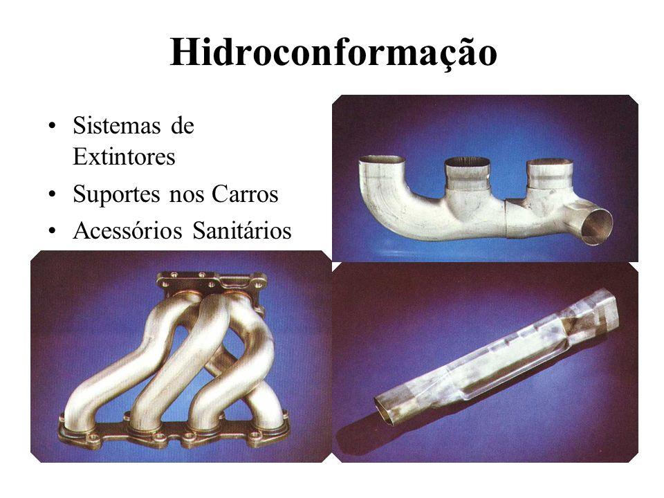 Processo de Hidroconformação Figura esquematica: Produção de um T