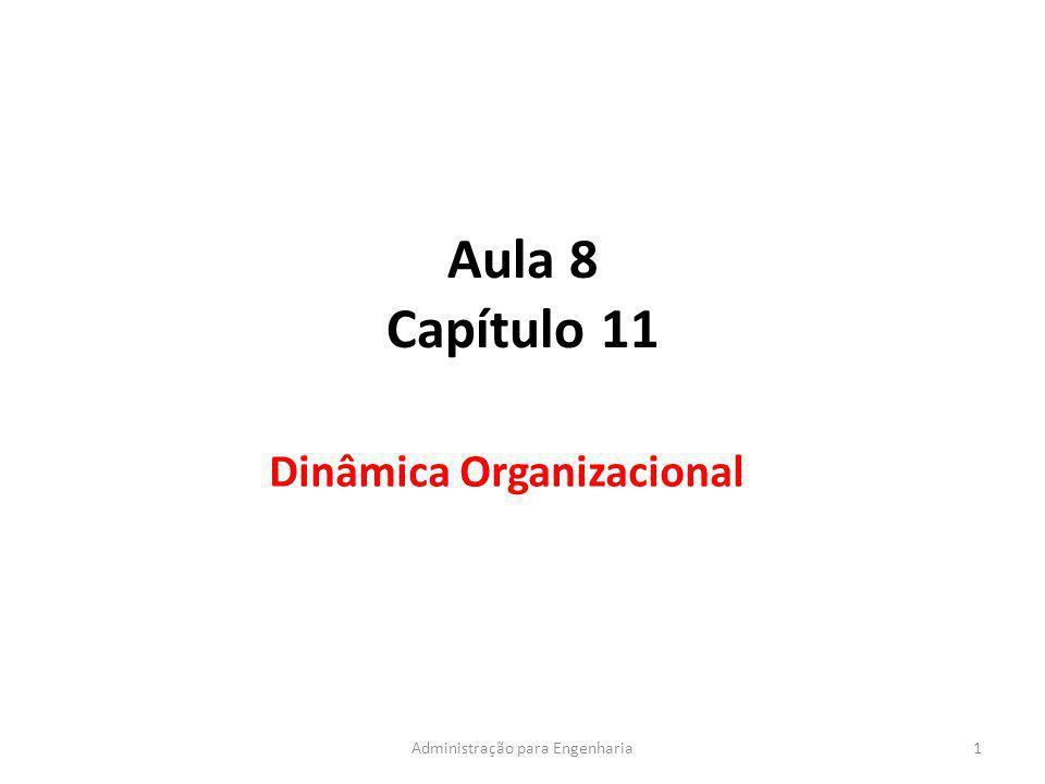Aula 8 Capítulo 11 Dinâmica Organizacional 1Administração para Engenharia