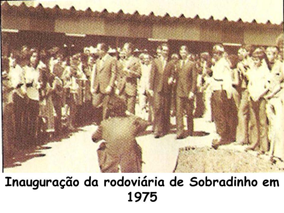 Inauguração da rodoviária de Sobradinho em 1975
