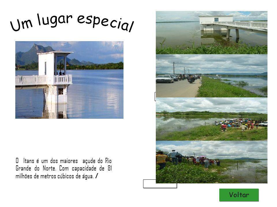 O Itans é um dos maiores açude do Rio Grande do Norte. Com capacidade de 81 milhões de metros cúbicos de água. / Natal Luz CC ccc Voltar