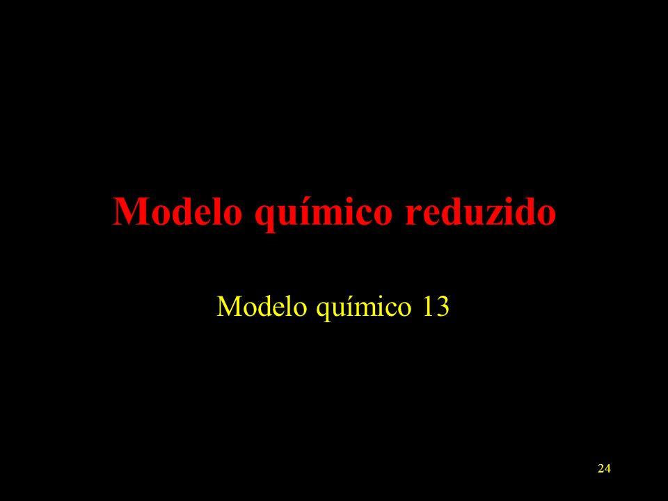24 Modelo químico reduzido Modelo químico 13