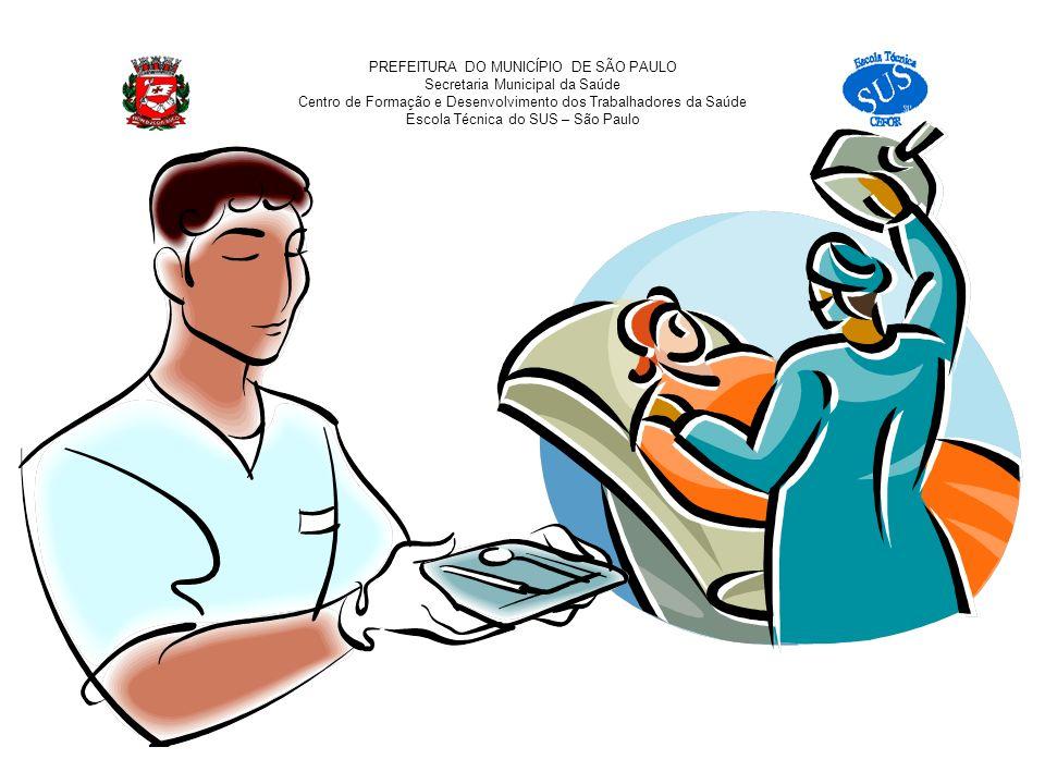 PREFEITURA DO MUNICÍPIO DE SÃO PAULO Secretaria Municipal da Saúde Centro de Formação e Desenvolvimento dos Trabalhadores da Saúde Escola Técnica do SUS – São Paulo