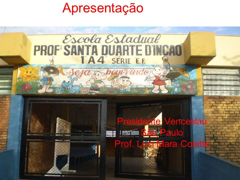 Apresentação Presidente Venceslau São Paulo Prof. Luci Mara Colette
