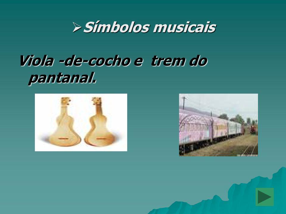 Símbolos musicais Símbolos musicais Viola -de-cocho e trem do pantanal.