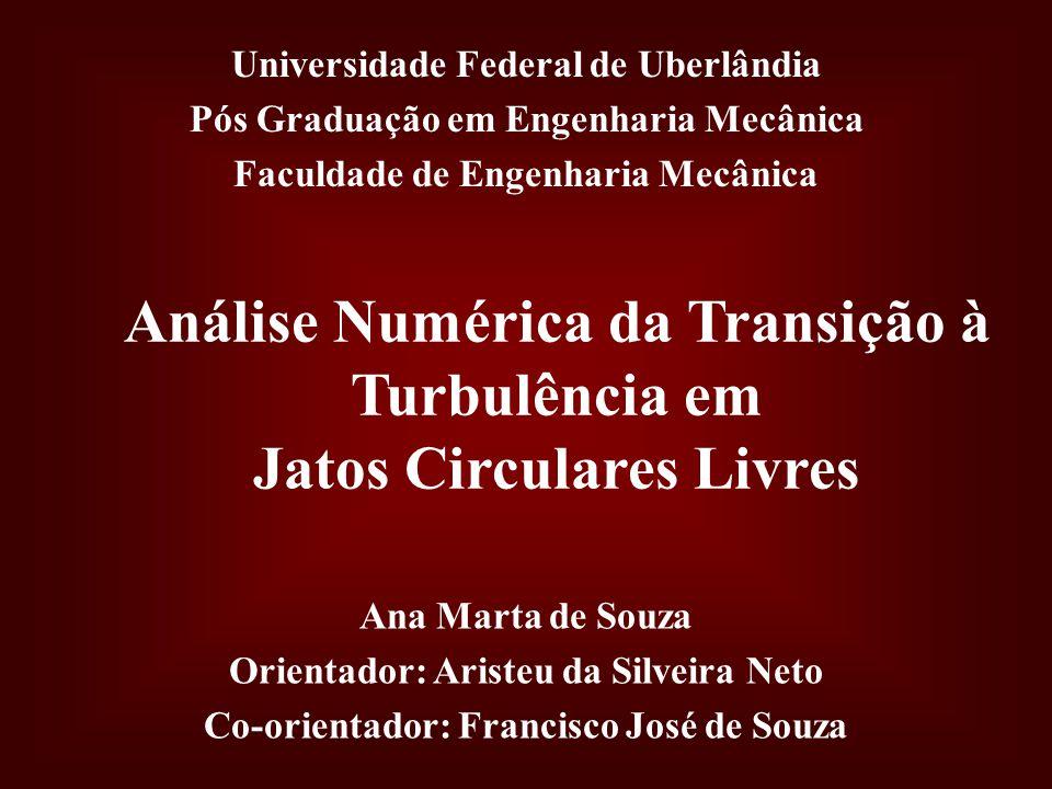 Análise Numérica da Transição à Turbulência em Jatos Circulares Livres Universidade Federal de Uberlândia Pós Graduação em Engenharia Mecânica Faculda